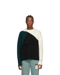 A-Cold-Wall* Off White Colorblocked Rib Sweater