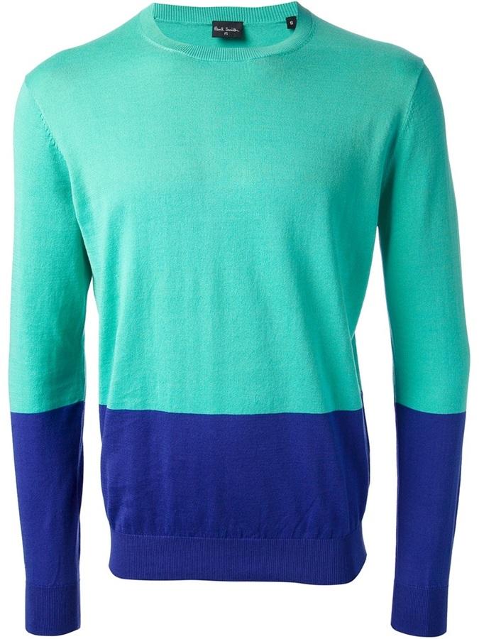 Reliable colour block jumper - Blue Paul Smith Pre Order XyiE3Fvu