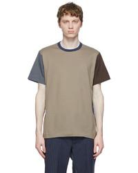 Comme des Garcons Homme Deux Taupe Colorblock T Shirt