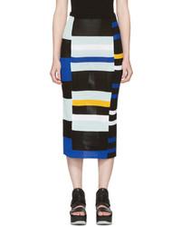 Proenza Schouler Multicolor Crochet Pencil Skirt