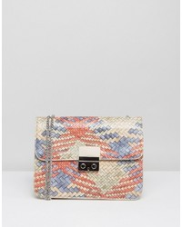 Silvian Heach Multi Color Textured Crossbody Bag