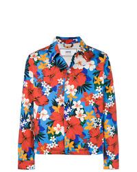 AMI Alexandre Mattiussi Floral Denim Jacket