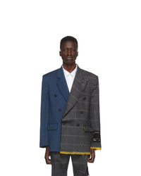 Off-White Multicolor Reconstructed Blazer
