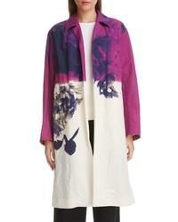 Dries Van Noten Ramona Floral Print Cotton Linen Jacket
