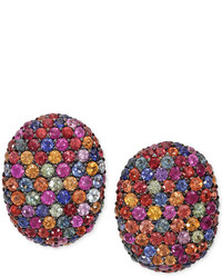 EFFY Balissima By Multi Color Sapphire Stud Earrings In Sterling Silver