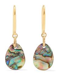 Isabel Marant Gold Tone Shell Earrings