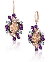 LeVian Le Vian Crazy Semi Precious Multi Stone And 14k Strawberry Gold Drop Earrings