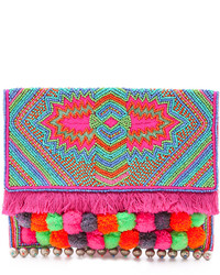 Multi colored Embellished Clutch