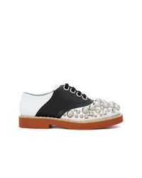 Miu Miu Crystal Embellished Oxfords