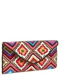 Berry beaded envelope clutch medium 70656