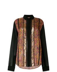 Saint Laurent Contrast Embroidered Shirt