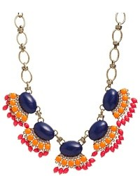 Liquorish multi bead statet necklace gold medium 28673