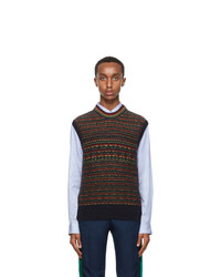 Multi colored Fair Isle Sweater Vest