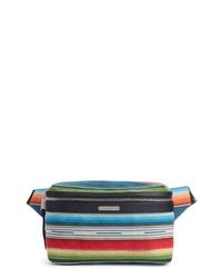 Saint Laurent Multicolor Stripe Wool Blend Belt Bag