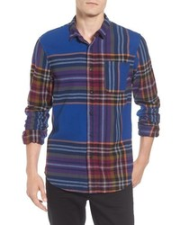 Multi colored Flannel Long Sleeve Shirt