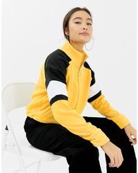 New Look Colourblock Polar Fleece In Yellow
