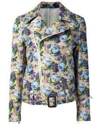 MSGM Floral Biker Jacket