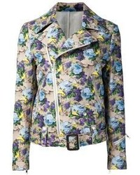 Msgm floral biker jacket medium 57152