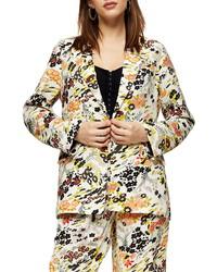 Topshop Idol Floral Print Jacket