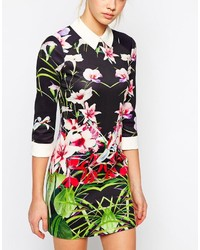 2b6bec3f3456 ... Ted Baker Dress In Mirrored Tropical Print