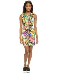 Milly Tropical Print Angular Dress
