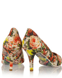 87349419c06c ... MSGM Floral Print Canvas Pumps ...