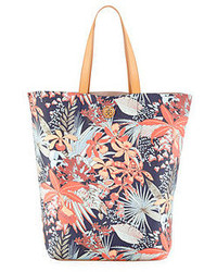 Multi colored Floral Canvas Tote Bag