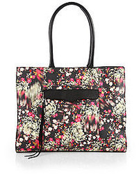 Mab floral print coated canvas tote medium 49479