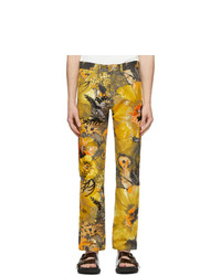 Dries Van Noten Multicolor Sequin Floral Trousers