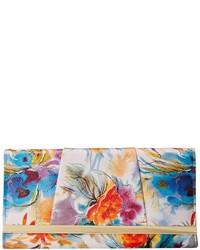 Watercolor floral bar clutch medium 278292