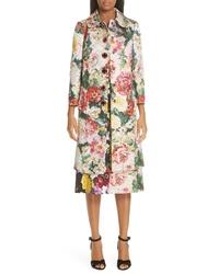 Dolce & Gabbana Jewel Button Brocade Coat