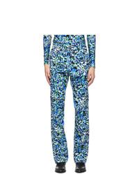 PACO RABANNE Multicolor Corduroy Floral Print Trousers