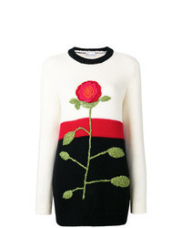 Multi colored Floral Crew-neck Sweater