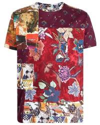 Etro Floral Patchwork Print T Shirt