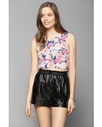 MinkPink Floral Frenzy Cropped Tank Top