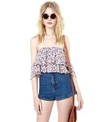 Nasty Gal Florinda Crop Top Floral