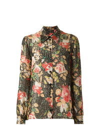 Saint Laurent Floral Print Shirt