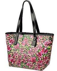 jcpenney 9 Co True Colors Floral Leopard Print Tote