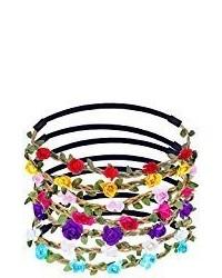 Eboot 7 pieces rose flower headband hair band for girls hair accessories medium 3650398