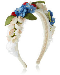 Dolce & Gabbana Embellished Silk And Cotton Blend Headband