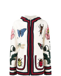 Gucci Embroidered Hooded Cardigan
