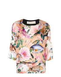 Shirtaporter V Neck Floral Blouse
