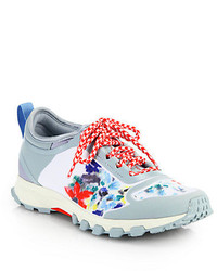 adidas by Stella McCartney Adizero Floral Print Rubber Fabric Sneakers