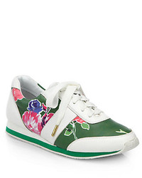 Kate Spade New York Sidney Floral Print Leather Sneakers