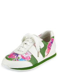 Kate Spade New York Sidney Floral Print Trainer Lucky Green