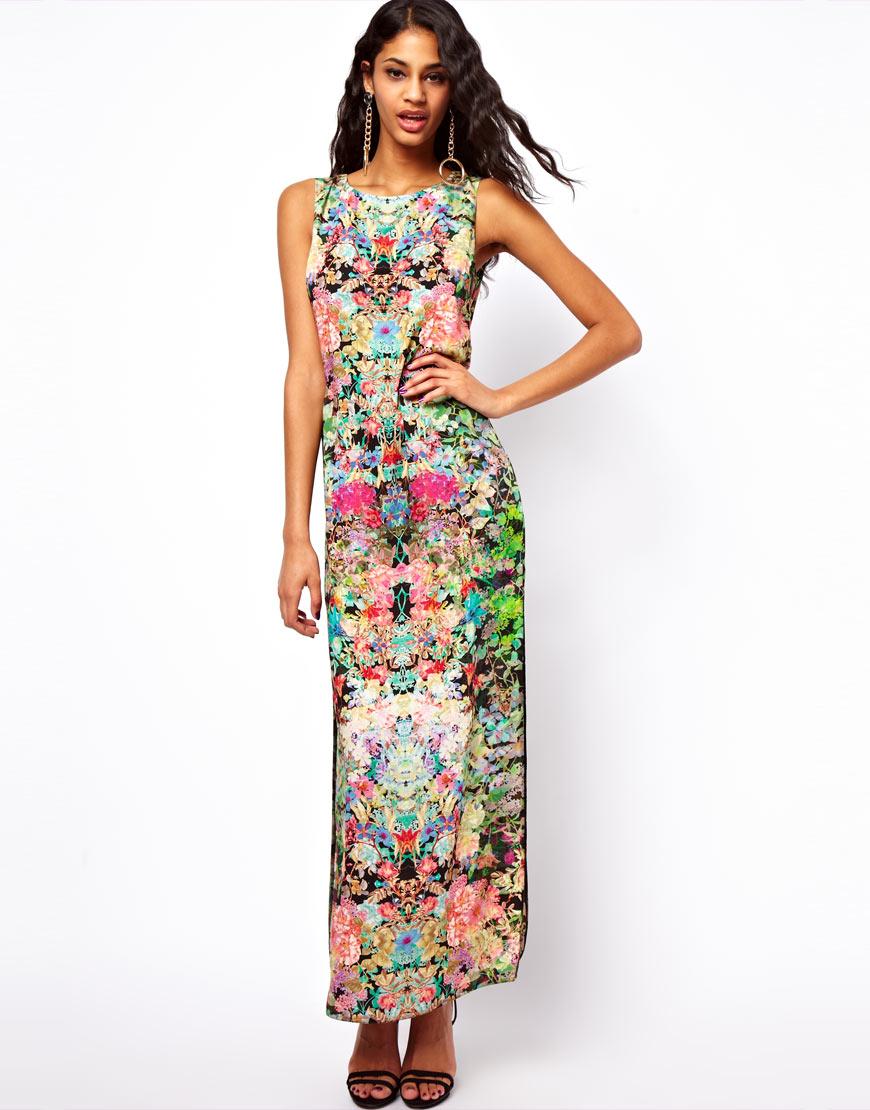 Maxi dresses and high heels