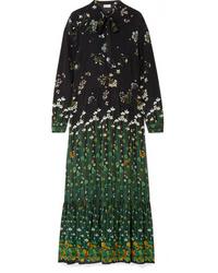 REDVALENTINO Floral Print Silk Chiffon Maxi Dress