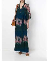 AILANTO Floral Sheer Kaftan Dress