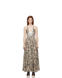 Stella McCartney Multicolor Silk Allover Daisies Lyla Dress