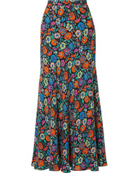 Multi colored Floral Maxi Skirt